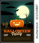 halloween party poster... | Shutterstock .eps vector #321510887