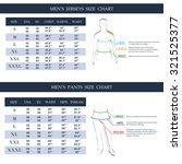men's jerseys and pants size... | Shutterstock .eps vector #321525377
