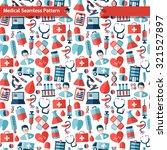 flat medical health care... | Shutterstock .eps vector #321527897