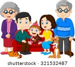 big family with grandparents ... | Shutterstock . vector #321532487