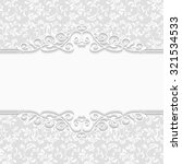 elegant invitation. decorative... | Shutterstock . vector #321534533