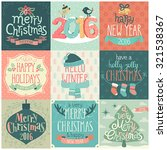 christmas set   labels  emblems ... | Shutterstock .eps vector #321538367