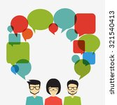 people icons with dialog speech ... | Shutterstock .eps vector #321540413