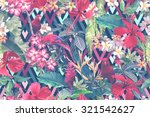 tropical floral pattern on a... | Shutterstock . vector #321542627