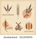 wheat symbols and labels.... | Shutterstock .eps vector #321545993