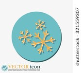 weather icon  snowflake sign | Shutterstock .eps vector #321559307