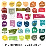 Premium, quality modern labels collection | Shutterstock vector #321560597