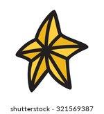 cartoon star vector game icon