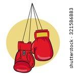 red boxing gloves vector...   Shutterstock .eps vector #321586883
