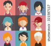 set of people icons in flat... | Shutterstock .eps vector #321587117