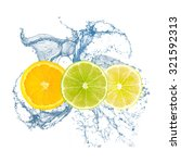 Orange  Lime  Lemon Water Splash