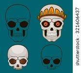 halloween skull in pumpkin ... | Shutterstock .eps vector #321606437