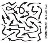 set of black drawing arrows | Shutterstock .eps vector #321631463