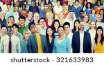 large group of diverse... | Shutterstock . vector #321633983