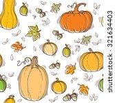 autumn seamless pattern. hand... | Shutterstock .eps vector #321634403