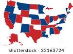 usa map | Shutterstock .eps vector #32163724