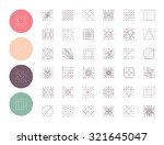 collection of  geometric shapes.... | Shutterstock .eps vector #321645047