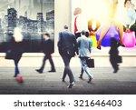 business people walking... | Shutterstock . vector #321646403