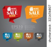 vector   merry christmas sale... | Shutterstock .eps vector #321656807