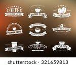 design coffee logos  emblems ... | Shutterstock .eps vector #321659813