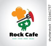 rock cafe food tree logo... | Shutterstock .eps vector #321661757