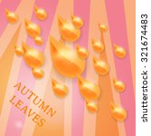 autumn background with shining... | Shutterstock .eps vector #321674483