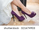 Purple Wedding Shoes On The...