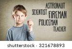 boy  portrait  writing ... | Shutterstock . vector #321678893