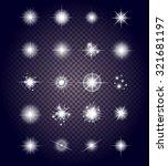 set glows bright star light... | Shutterstock .eps vector #321681197