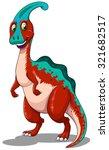 red parasaurolophus  standing...   Shutterstock .eps vector #321682517