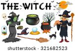 witch and dark magic objects... | Shutterstock .eps vector #321682523