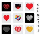 heart shapes or love sign... | Shutterstock . vector #321696113