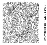 forest wild leaves. vector.... | Shutterstock .eps vector #321711437