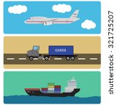 shipment and cargo infographics ... | Shutterstock . vector #321725207