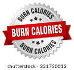 burn calories 3d silver badge... | Shutterstock .eps vector #321730013