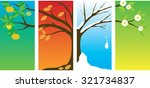 tree changing in four seasons | Shutterstock .eps vector #321734837