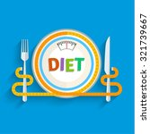 concept for dieting  planned