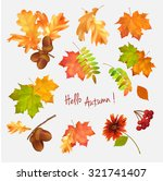 autumn vector collection of... | Shutterstock .eps vector #321741407
