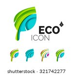 set of abstract eco leaf icons  ... | Shutterstock .eps vector #321742277