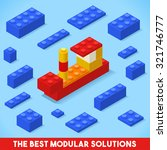the best modular solutions ads. ... | Shutterstock .eps vector #321746777