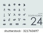 south korea vector set of... | Shutterstock .eps vector #321763697