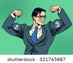 businessman with muscles... | Shutterstock .eps vector #321765887