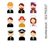 profession pixels icons set.... | Shutterstock .eps vector #321792317