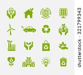 ecology icon. ecological icons. ... | Shutterstock .eps vector #321799343