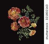 flower saffron  pattern  | Shutterstock . vector #321802163