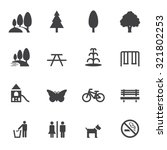 park and outdoor  icons | Shutterstock .eps vector #321802253