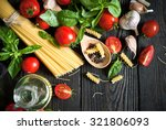 ingredients for cooking italian ... | Shutterstock . vector #321806093