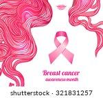 october  breast cancer... | Shutterstock .eps vector #321831257