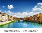 view of medieval stone bridge... | Shutterstock . vector #321836507