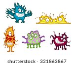 cartoon funny monsters and... | Shutterstock . vector #321863867